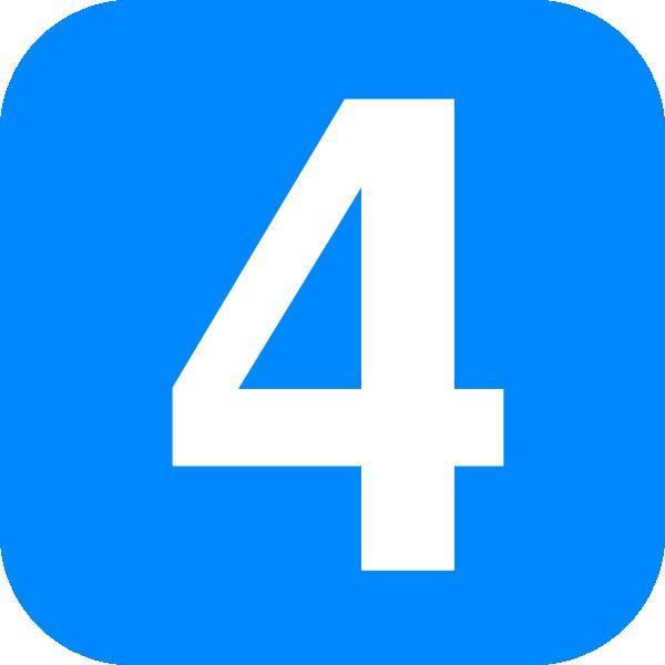 Number four clip art. 4 clipart blue