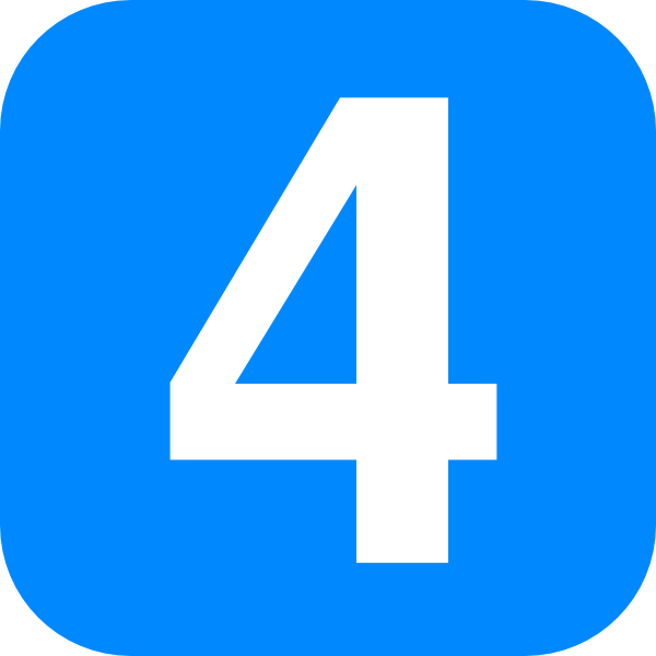 4 clipart blue