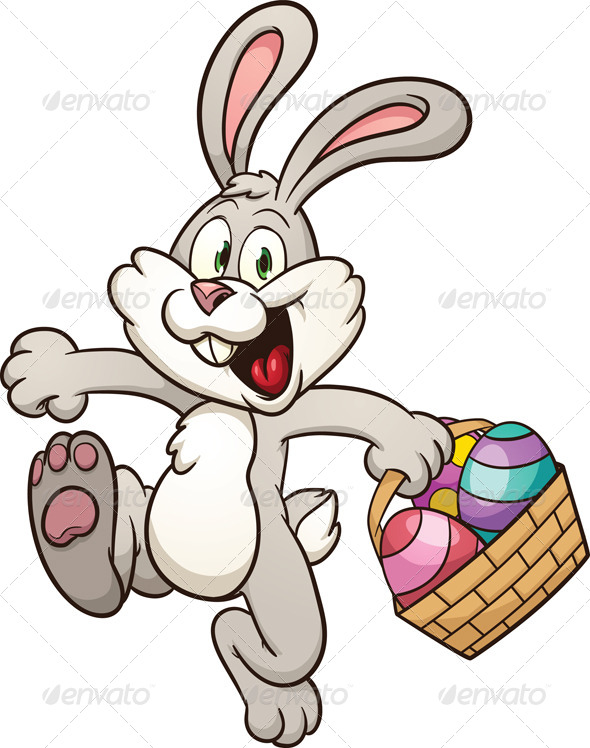 4 clipart bunny. Cartoon easter moving clip