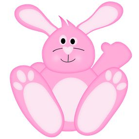 Rabbit pink pencil and. 4 clipart bunny