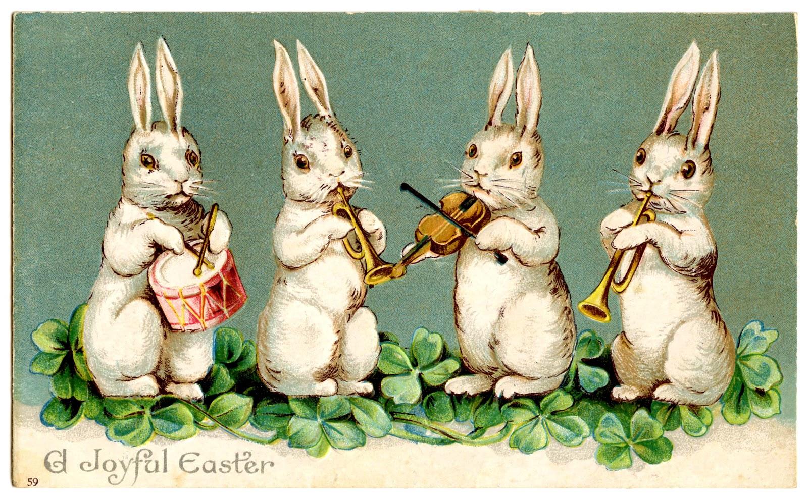 Easter clip art musical. 4 clipart bunny