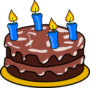 Celebrate clipart birthday cake. Four candles clip art