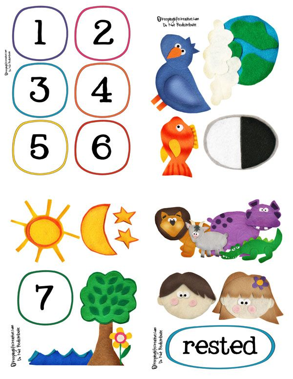 7 clipart creation. The story interactive printables