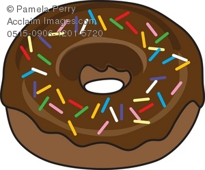 Clip art illustration of. Baked goods clipart donut