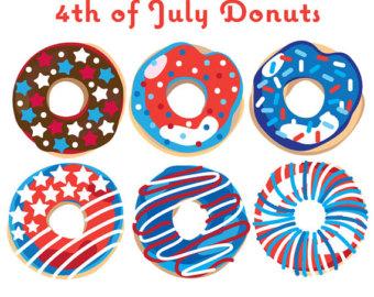 4 clipart donuts. Donut illustration etsy th