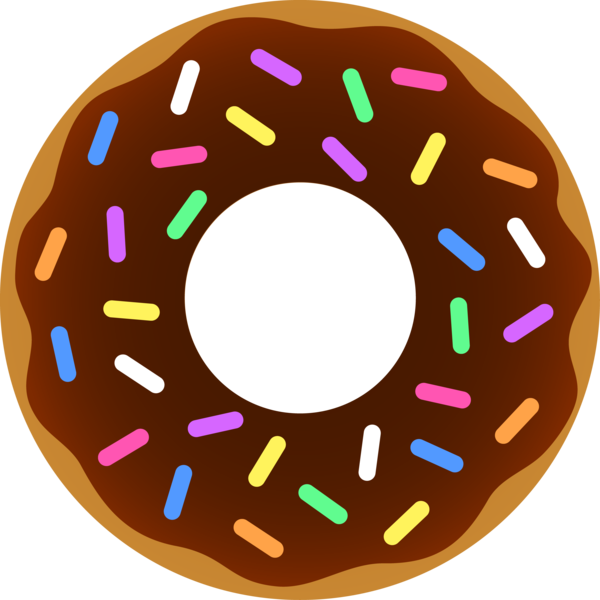 Donut chocolate sprinkles images. Donuts clipart free public domain