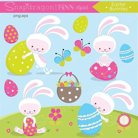 White bunny clip art. 4 clipart easter egg