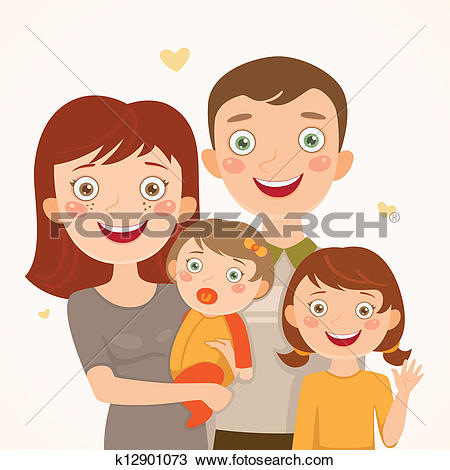 4 clipart family. People daughters station