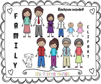 4 clipart family. Kids my clip art