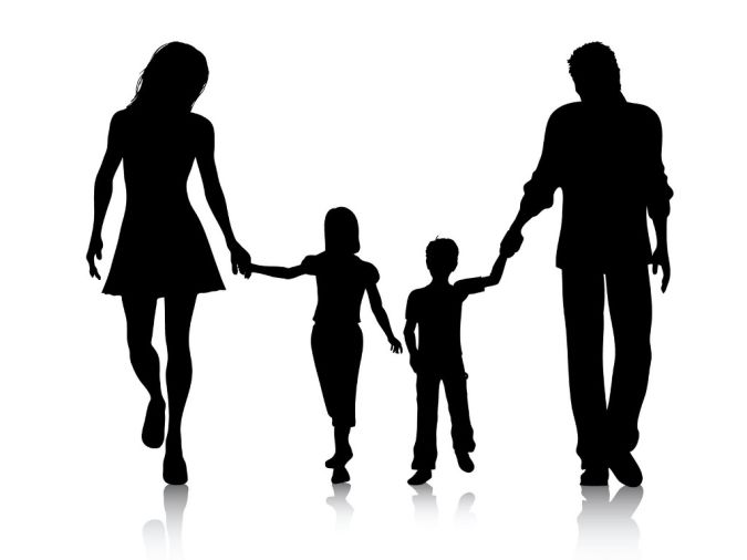 Picture silhouette at getdrawings. 4 clipart family