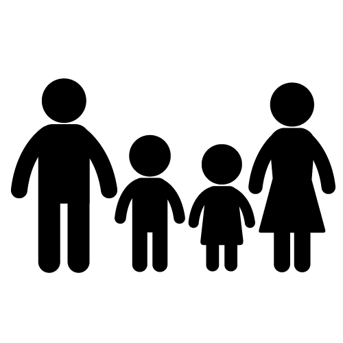 4 clipart family.  collection of people