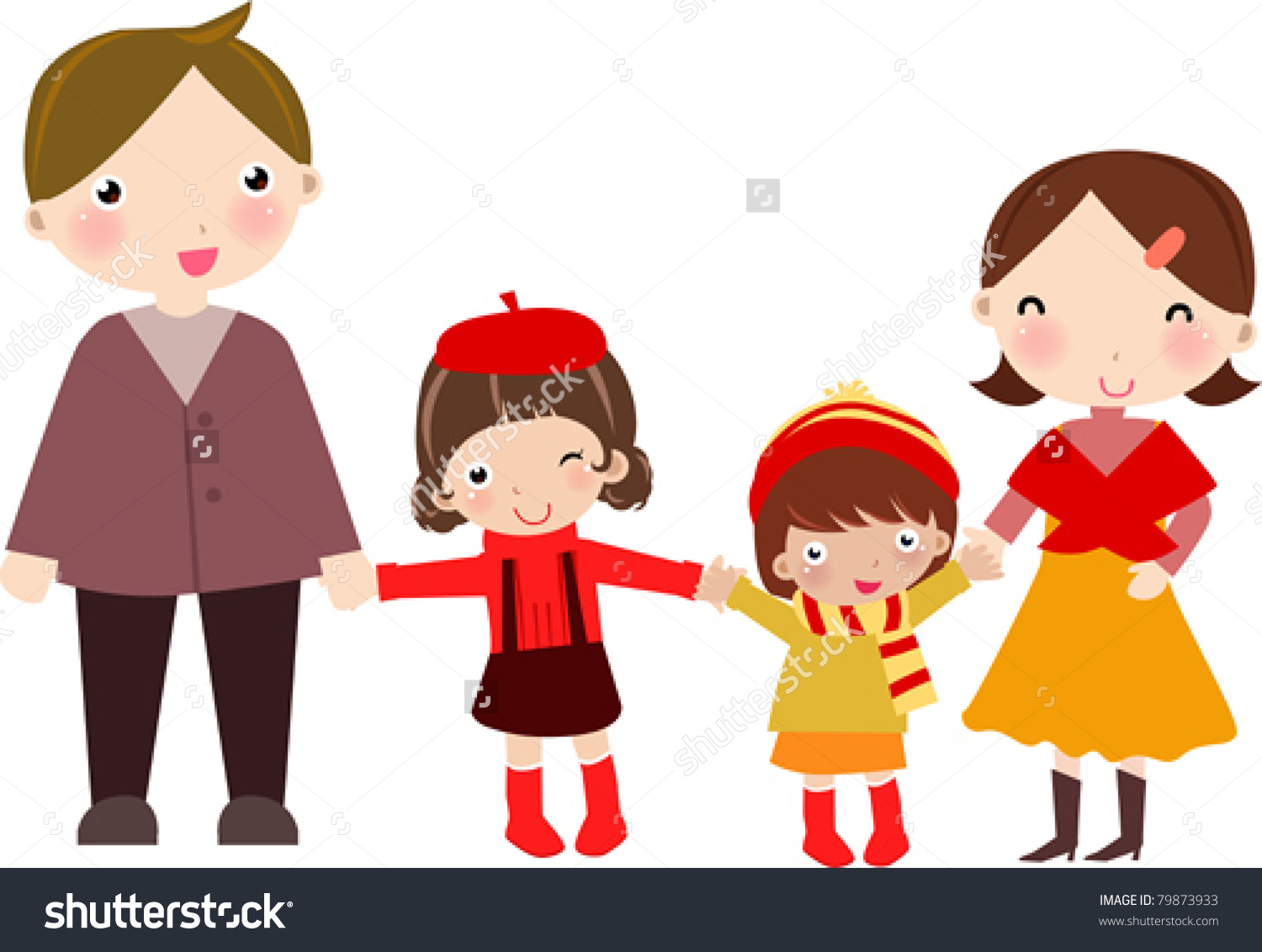 Family people daughters station. 2 clipart person