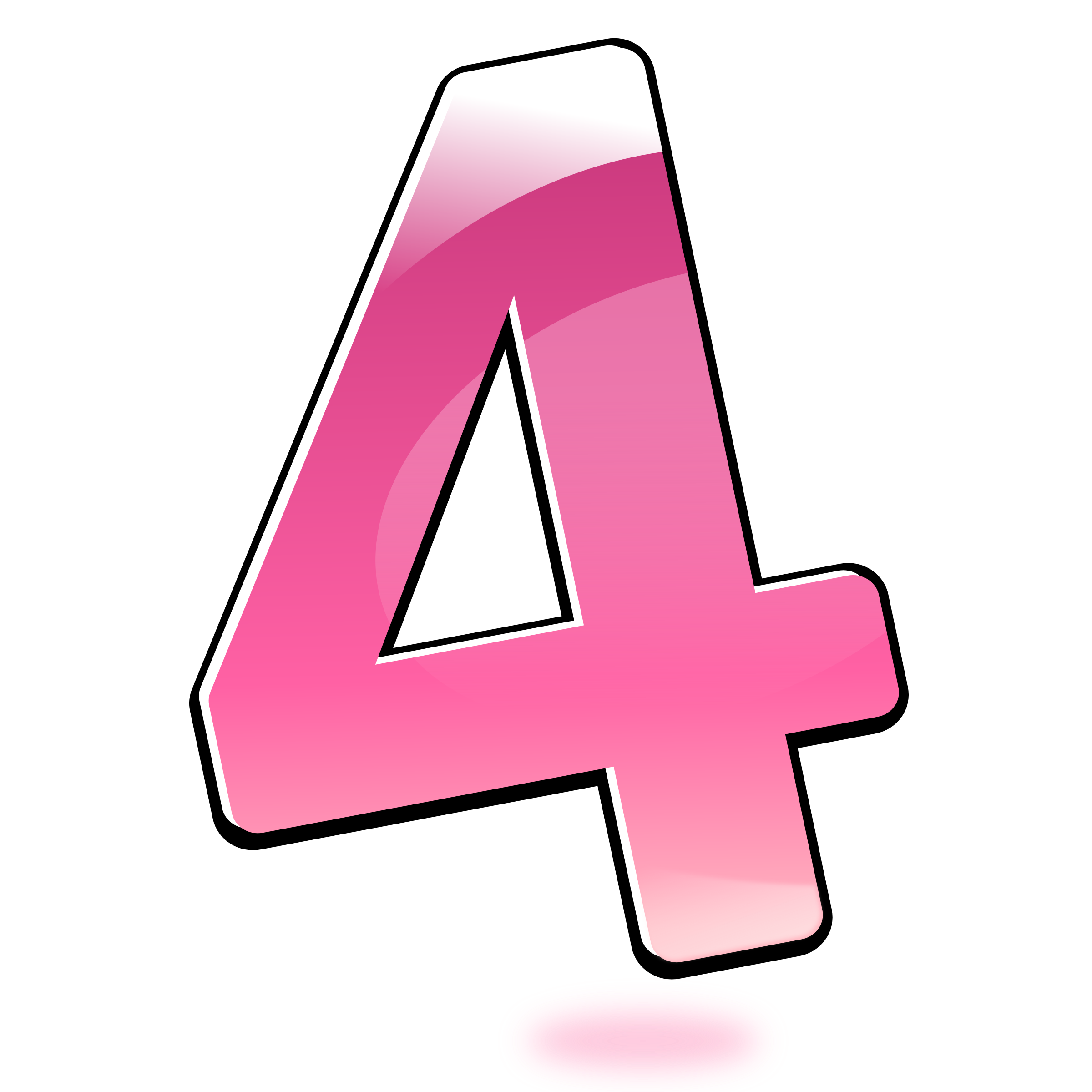 4 clipart four. Glossy number big image