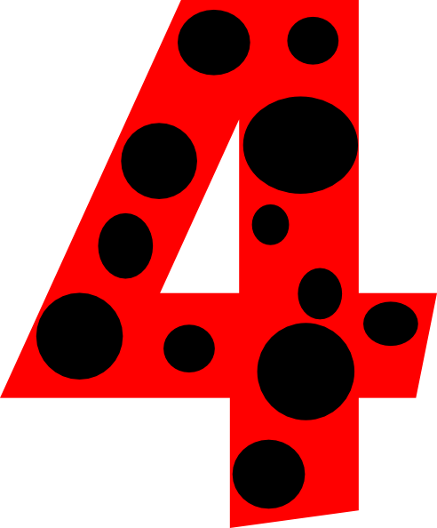Number dots clip art. 4 clipart four