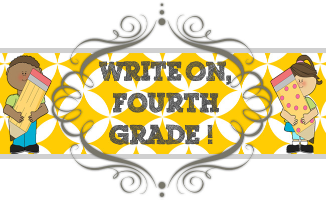 4 clipart fourth grade. Write on