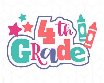 4 clipart fourth grade.  th svg etsy