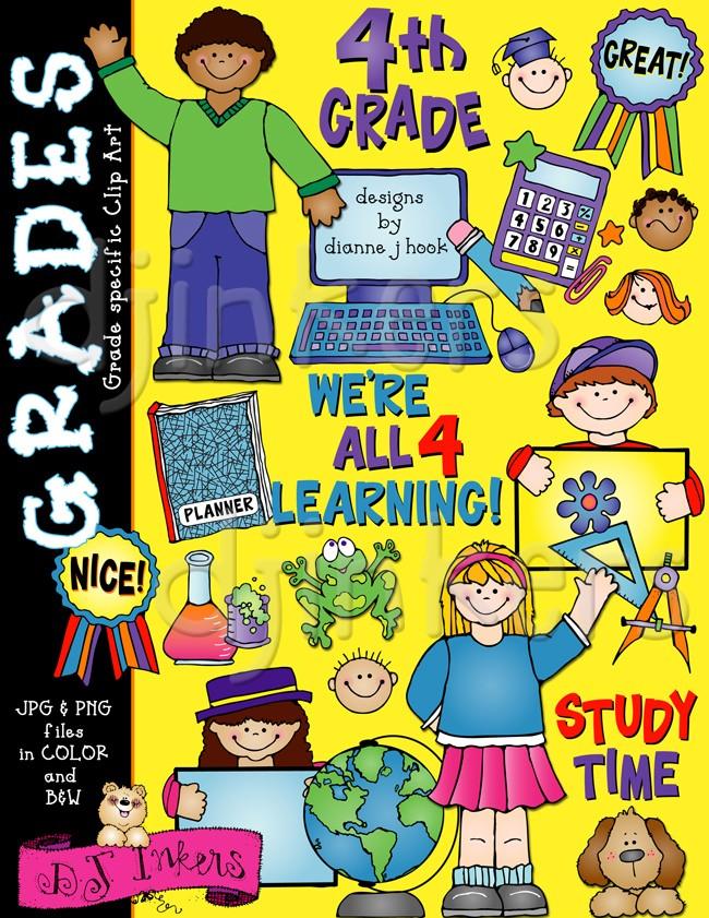 Fun school clip art. 4 clipart fourth grade