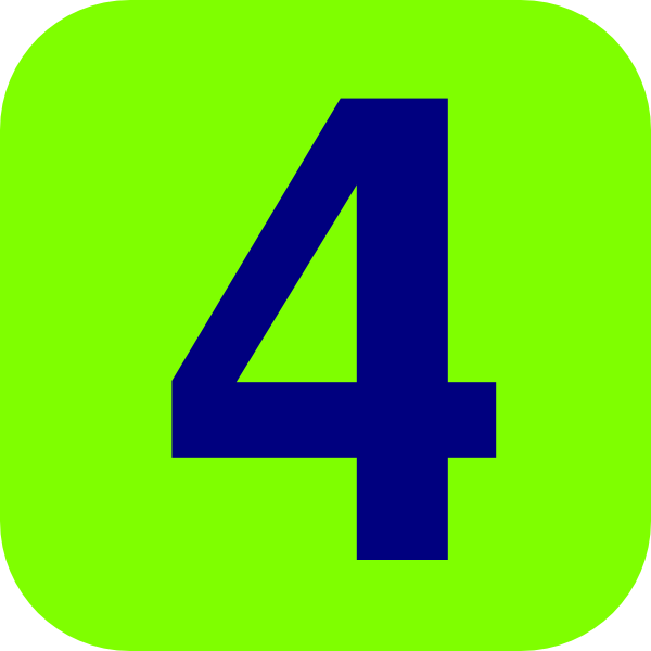 And blue number clip. 4 clipart green