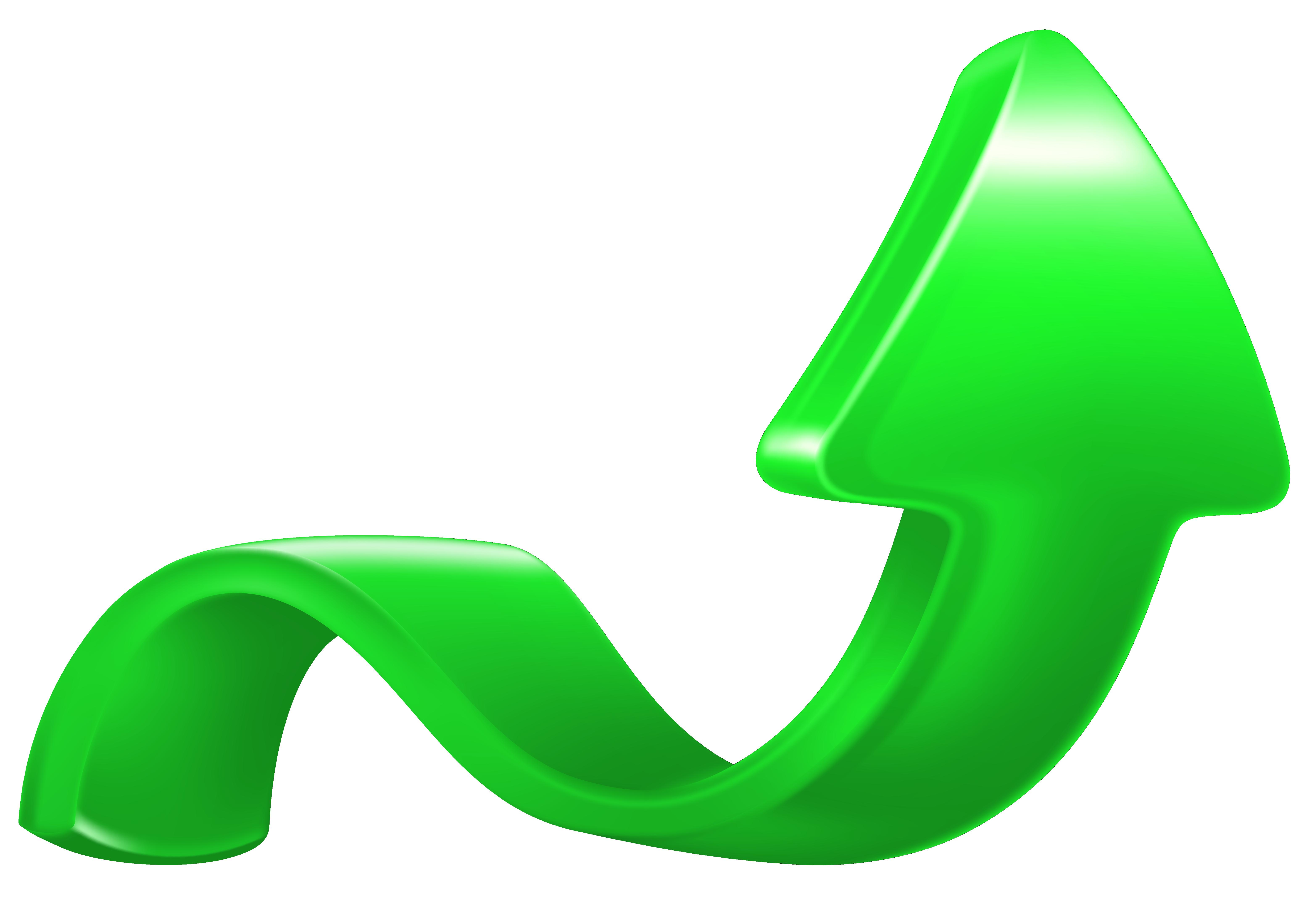 Increase arrow green png. Clipart arrows future