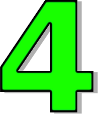 Number . 4 clipart green