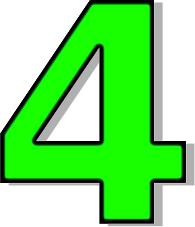4 clipart green