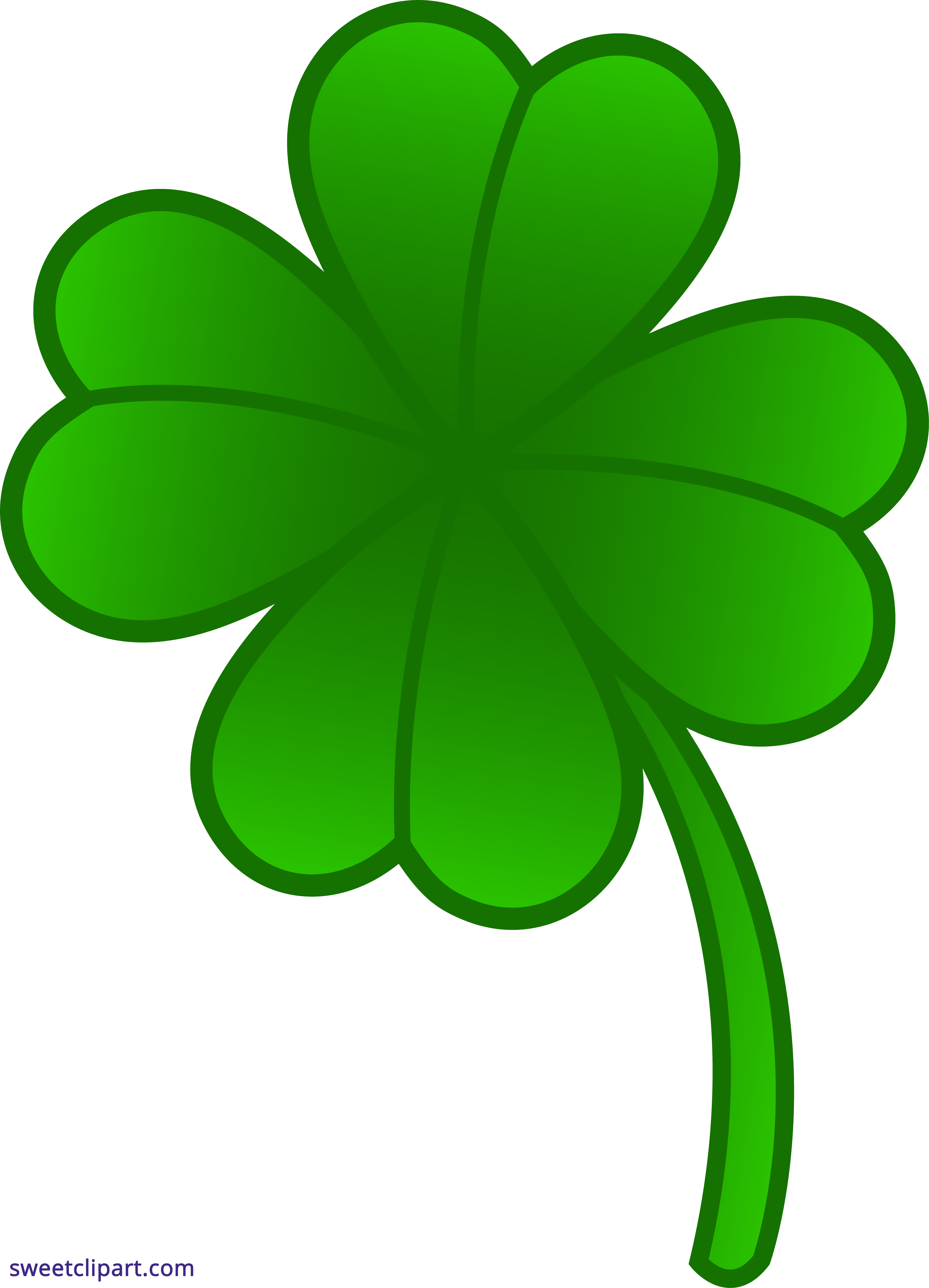 Four leaf clover sweet. 4 clipart green