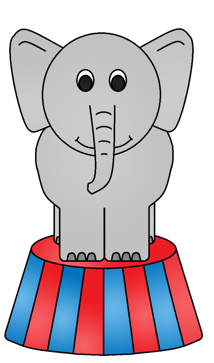 Elephant kid image . Picture clipart circus