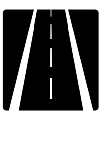 4 clipart lane road. Highway clip art at