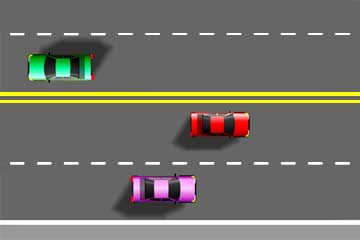 4 clipart lane road. Markings colors patterns meaning