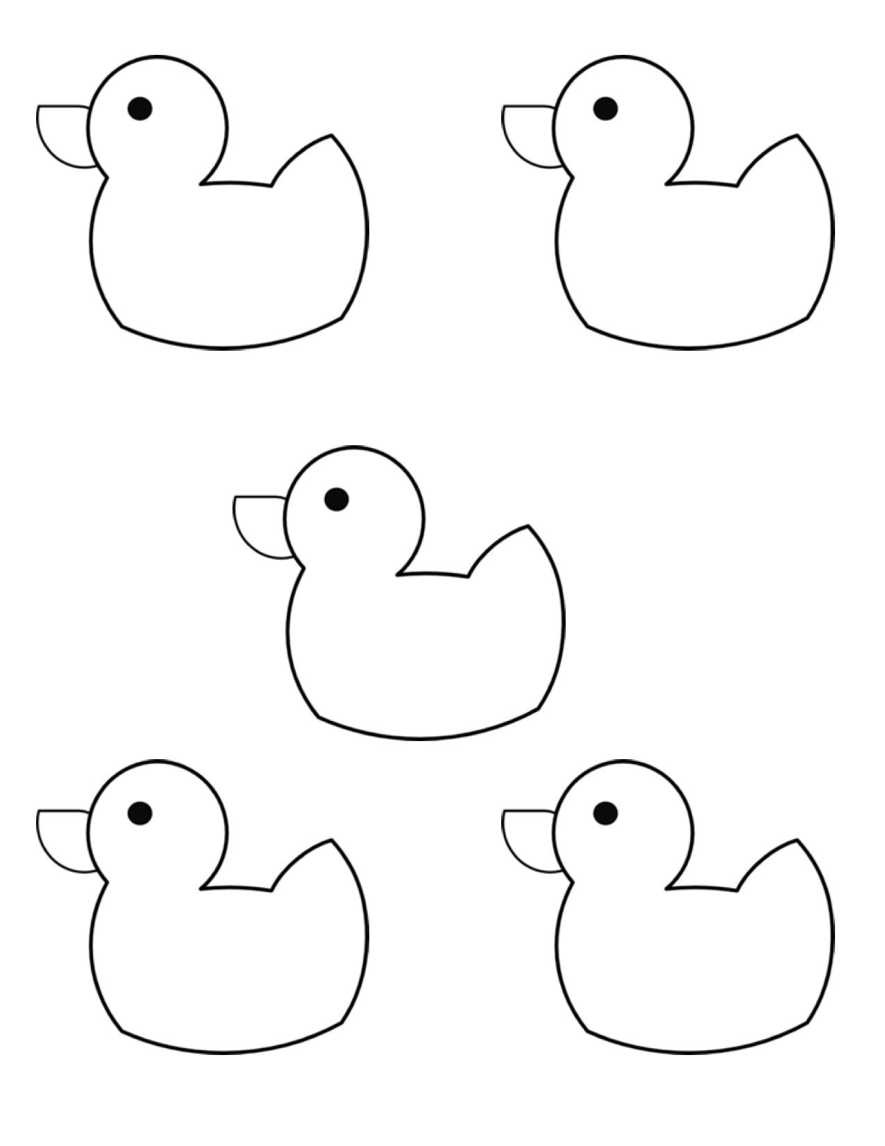 Ducks clipart 5 duck.  little rubber kindergarten