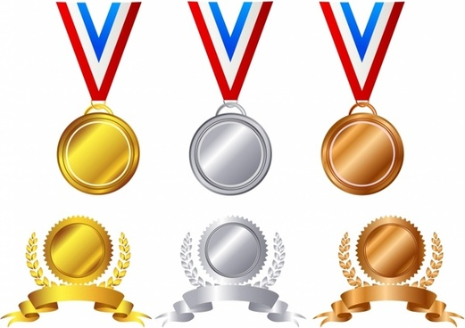 4 clipart medal. Free vector download for