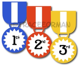 Awards clip art ribbons. 4 clipart medal
