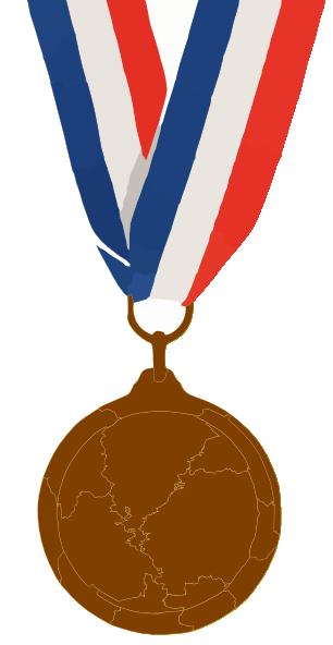 Bronze clip art at. 4 clipart medal