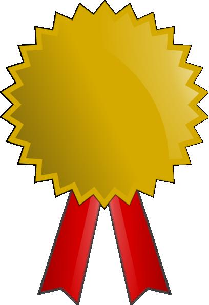 4 clipart medal. Gold clip art at