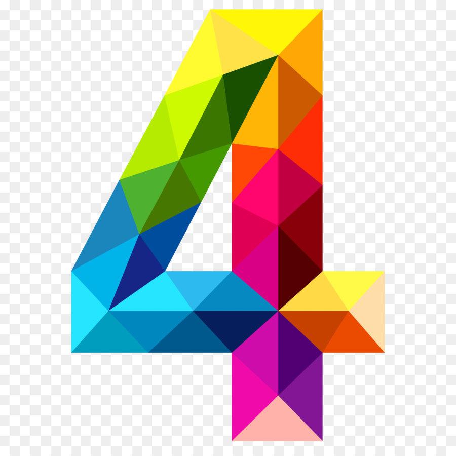 Papua new guinea icon. 4 clipart numeral