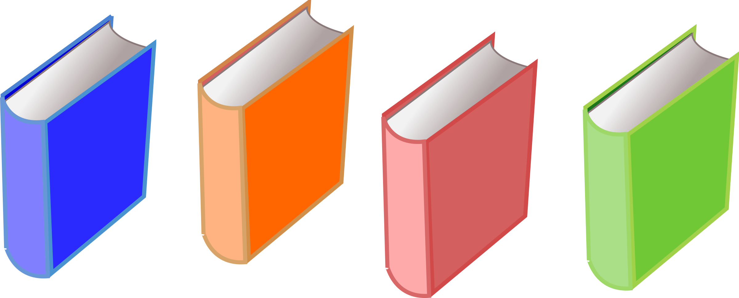 Books of big image. 4 clipart object
