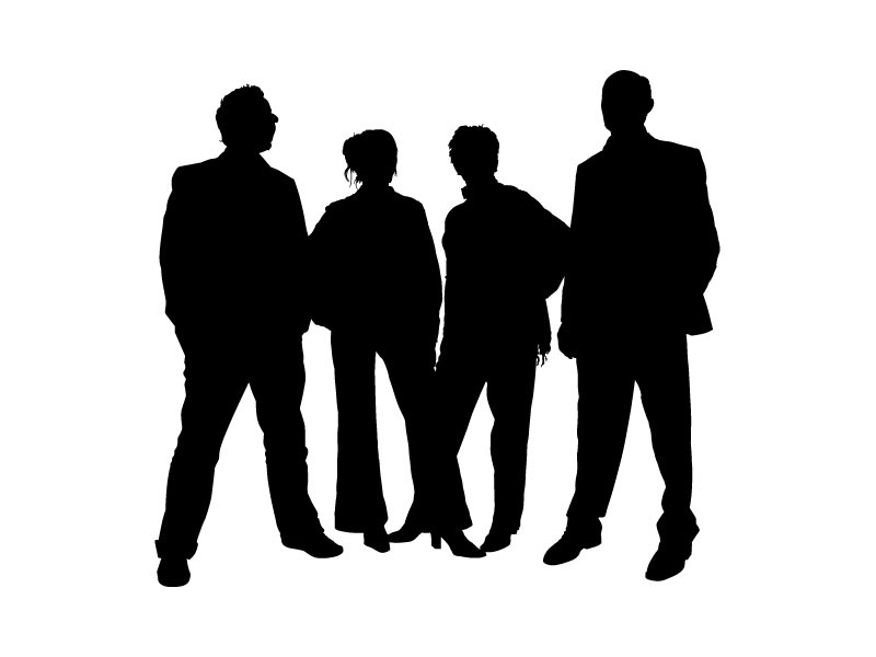 Person silhouette at getdrawings. 4 clipart peopl