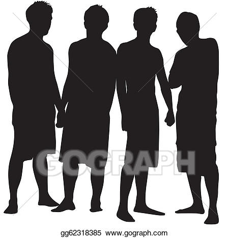 Vector people illustration . 4 clipart peopl