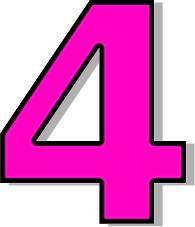 Number . 4 clipart pink