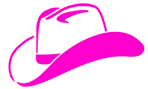 cowgirl hat clip. 4 clipart pink
