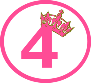 4 clipart pink. Tilted tiara and new