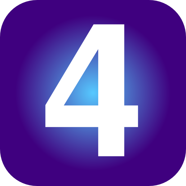 Number clker . 4 clipart purple