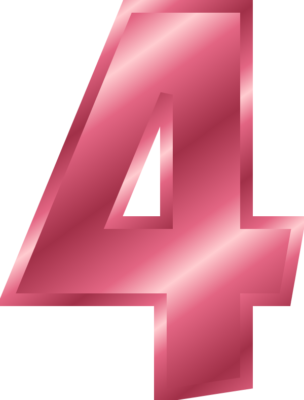 collection of high. Number 1 clipart pink