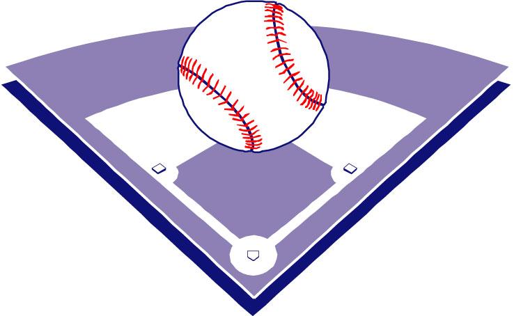 4 clipart purple. Baseball diamond softball cliparts