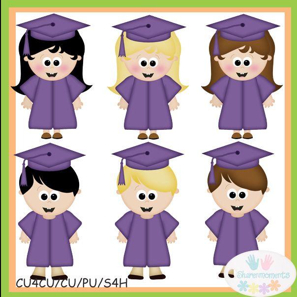 Animated graduation kindergarten clip. 4 clipart purple