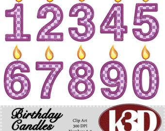 4 clipart purple. Number etsy happy birthday
