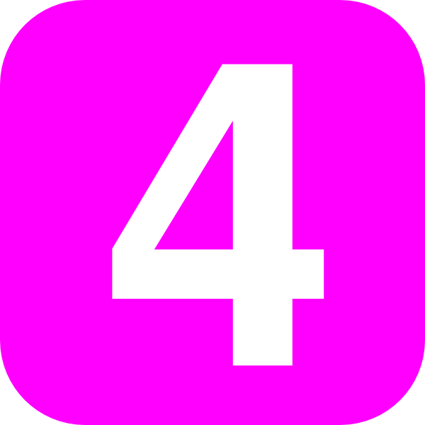 4 clipart purple. Number pink clip art