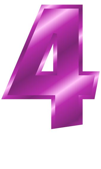 4 clipart purple. Number clip art bay