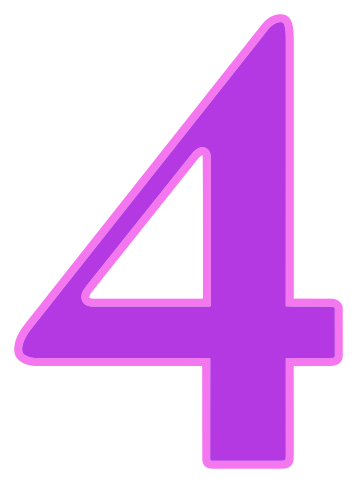 Triangle background number pink. 4 clipart purple