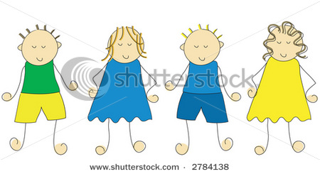 My little world day. 4 clipart sibling